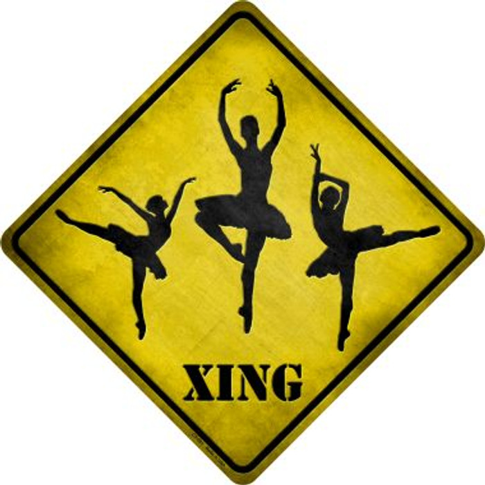 Ballerina Xing Novelty Metal Crossing Sign