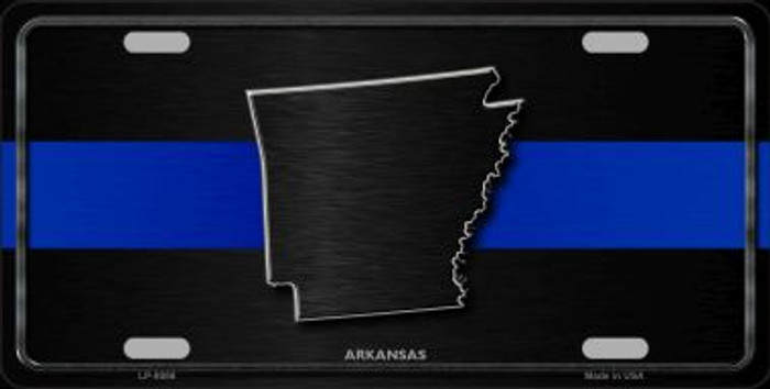 Arkansas Thin Blue Line Novelty Metal License Plate