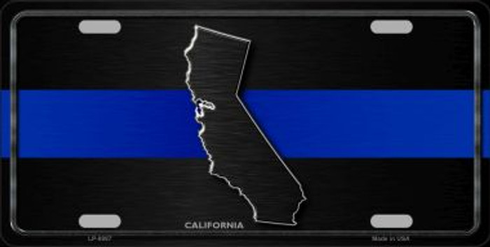 California Thin Blue Line Novelty Metal License Plate