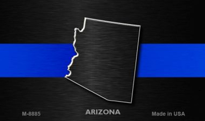 Arizona Thin Blue Line Novelty Metal Magnet
