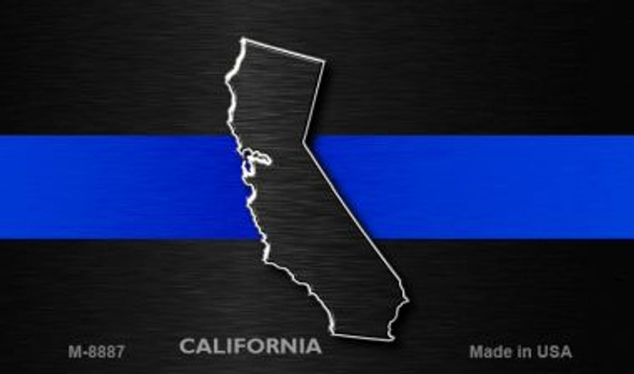 California Thin Blue Line Novelty Metal Magnet