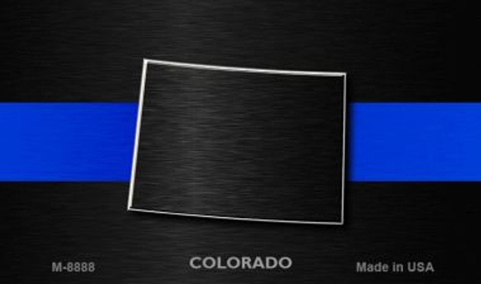 Colorado Thin Blue Line Novelty Metal Magnet
