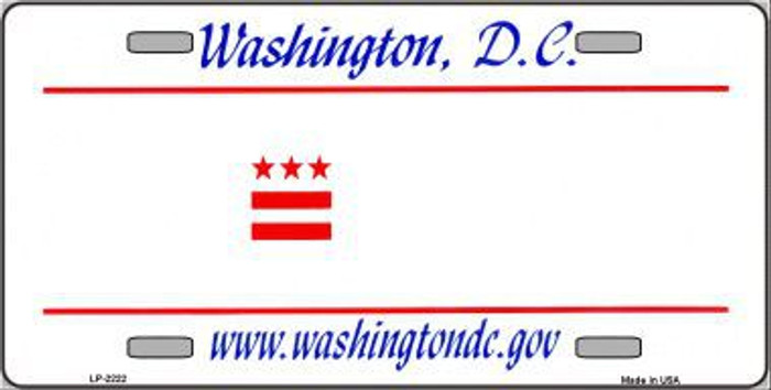 Washington DC State Background Novelty Blank Metal License Plate