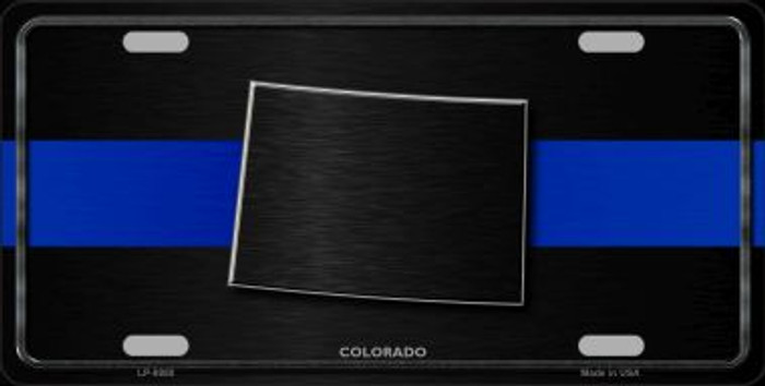 Colorado Thin Blue Line Novelty Metal License Plate