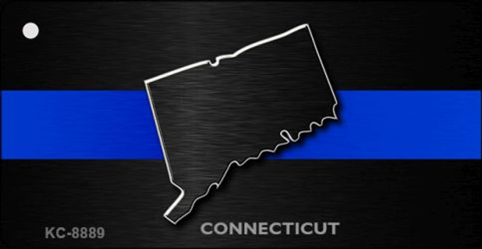 Connecticut Thin Blue Line Novelty Metal Key Chain