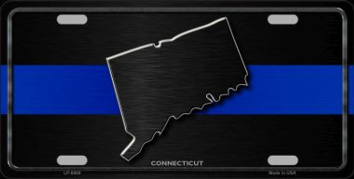Connecticut Thin Blue Line Novelty Metal License Plate