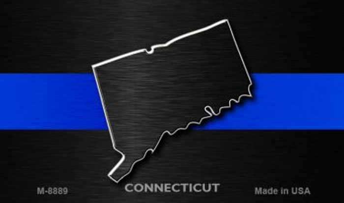 Connecticut Thin Blue Line Novelty Metal Magnet