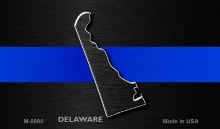 Delaware Thin Blue Line Novelty Metal Magnet