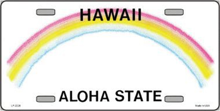 Hawaii State Background Metal License Plate