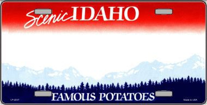 Idaho Novelty State Background Blank Metal License Plate