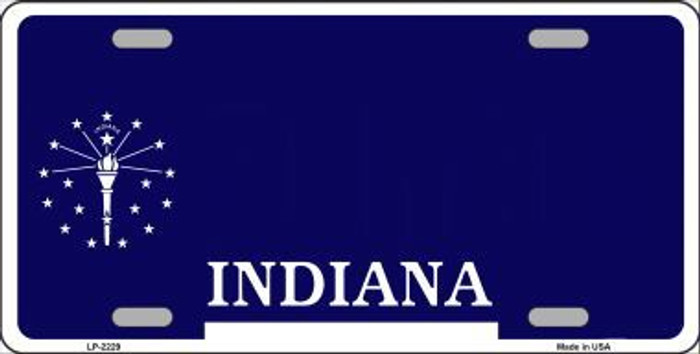 Indiana Novelty State Background Blank Metal License Plate