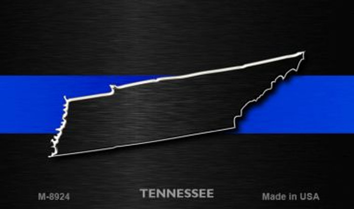 Tennessee Thin Blue Line Novelty Metal Magnet