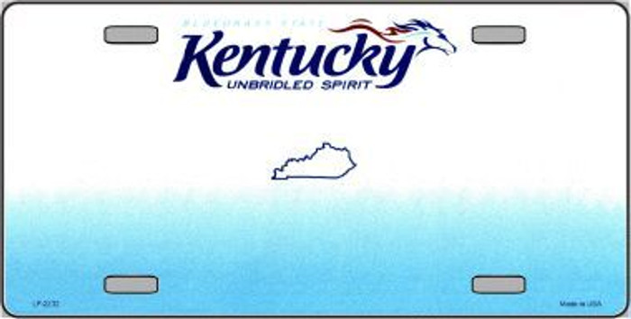 Kentucky Novelty State Background Blank Metal License Plate