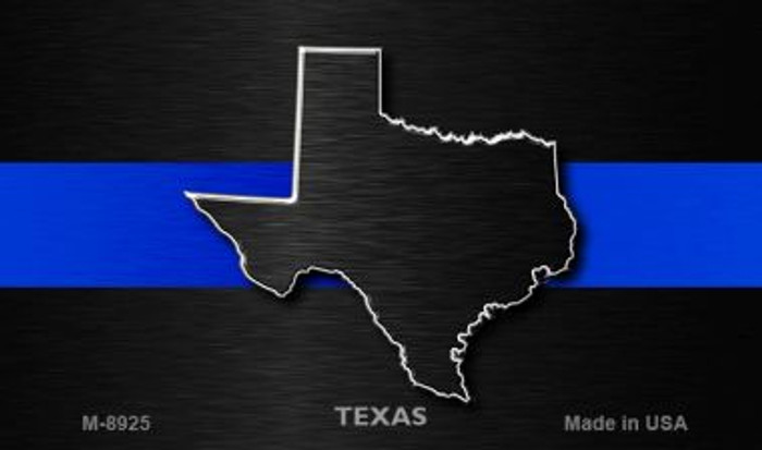 Texas Thin Blue Line Novelty Metal Magnet