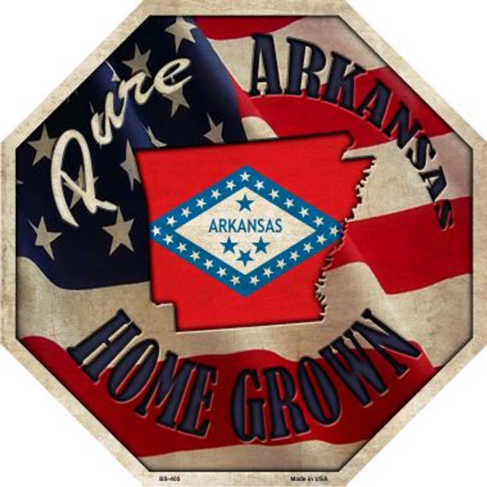 Arkansas Home Grown Metal Novelty Stop Sign