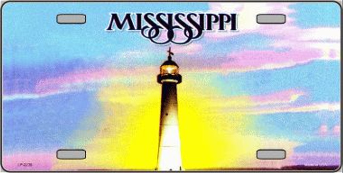Mississippi Novelty State Background Blank Metal License Plate