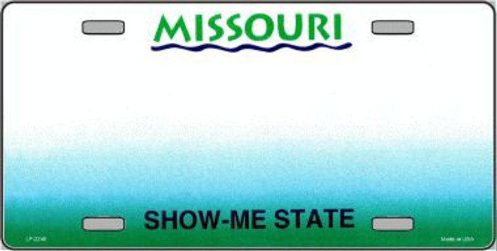Missouri Novelty State Background Blank Metal License Plate