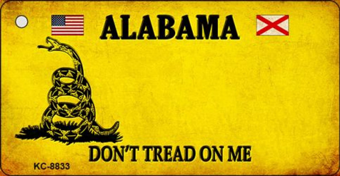 Alabama Dont Tread On Me Novelty Metal Key Chain