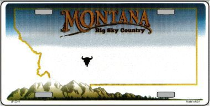 Montana Novelty State Background Blank Metal License Plate