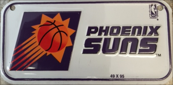 Phoenix Suns Novelty Metal Bicycle License Plate BP-100000