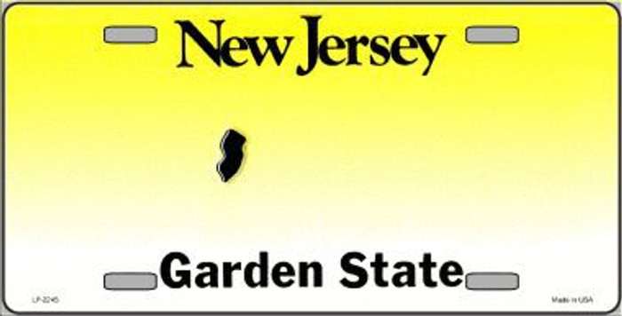New Jersey Novelty State Background Blank Metal License Plate