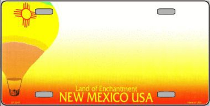 New Mexico Novelty State Background Blank Metal License Plate