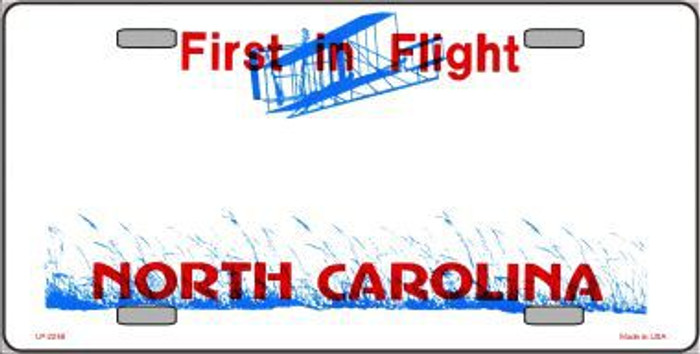 North Carolina Novelty State Background Blank Metal License Plate