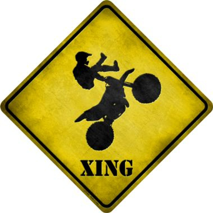 Motorcross Xing Novelty Metal Crossing Sign