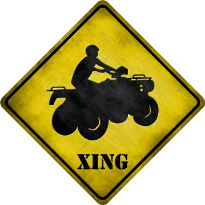 4 Wheeler Xing Novelty Metal Crossing Sign