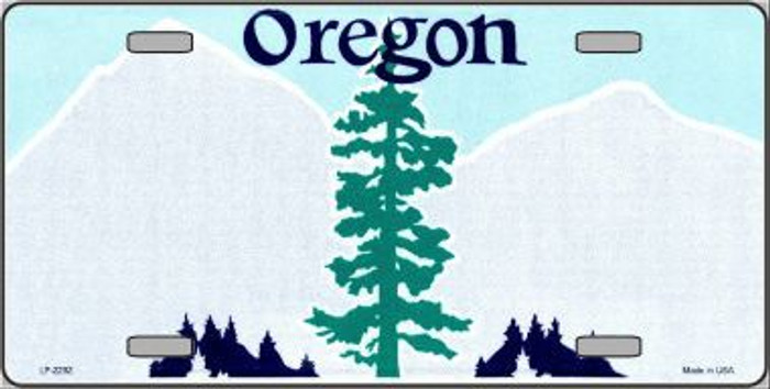 Oregon Novelty State Background Blank Metal License Plate