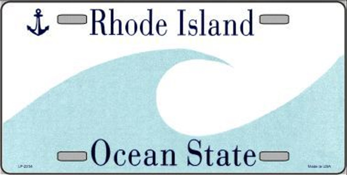Rhode Island Novelty State Background Blank Metal License Plate