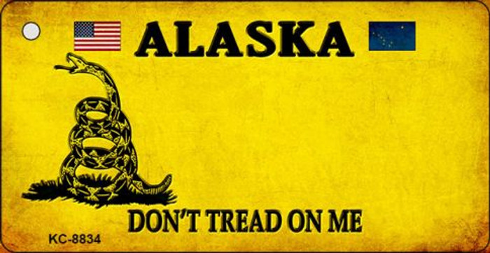 Alaska Dont Tread On Me Novelty Metal Key Chain