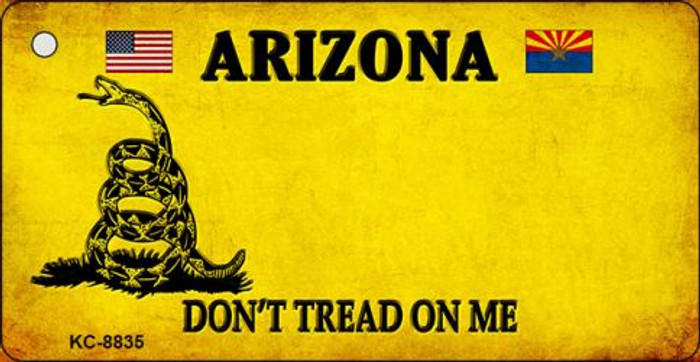 Arizona Dont Tread On Me Novelty Metal Key Chain