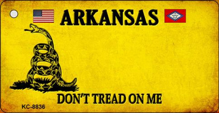 Arkansas Dont Tread On Me Novelty Metal Key Chain