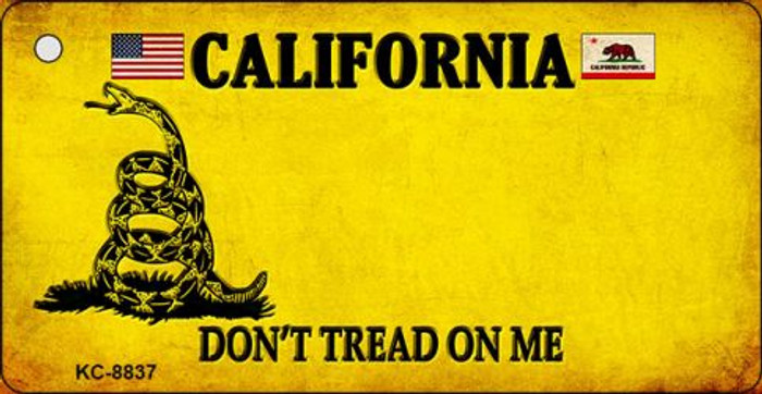California Dont Tread On Me Novelty Metal Key Chain