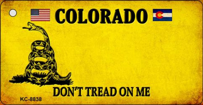 Colorado Dont Tread On Me Novelty Metal Key Chain