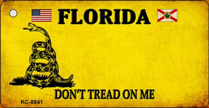 Florida Dont Tread On Me Novelty Metal Key Chain