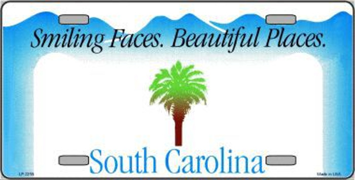 South Carolina Novelty State Background Blank Metal License Plate