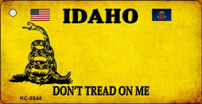 Idaho Dont Tread On Me Novelty Metal Key Chain