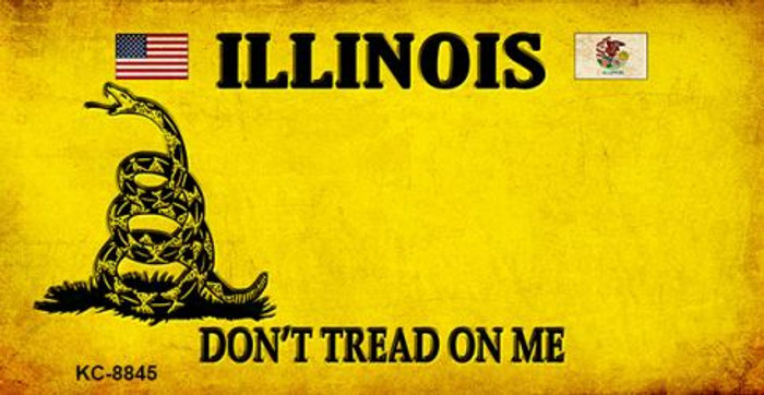 Illinois Dont Tread On Me Novelty Metal Key Chain