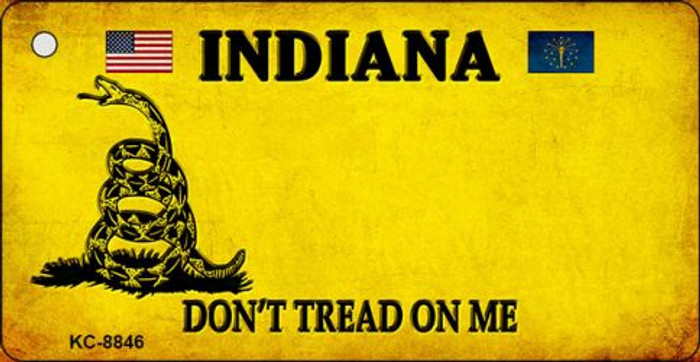 Indiana Dont Tread On Me Novelty Metal Key Chain