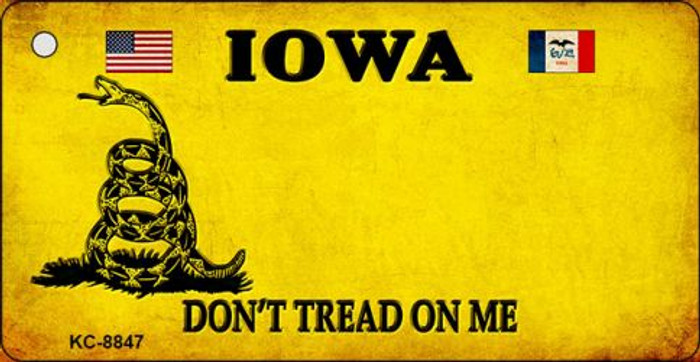 Iowa Dont Tread On Me Novelty Metal Key Chain