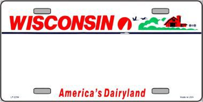 Wisconsin Novelty State Background Blank Metal License Plate