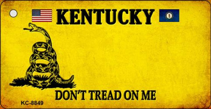 Kentucky Don't Tread On Me Novelty Metal Key Chain