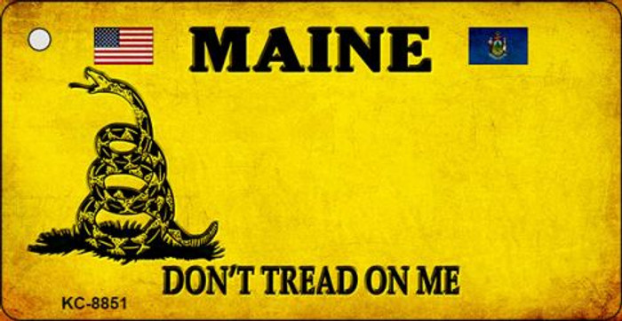 Maine Don't Tread On Me Novelty Metal Key Chain