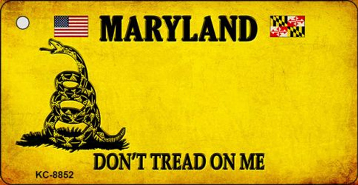 Maryland Don't Tread On Me Novelty Metal Key Chain