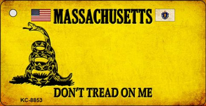 Massachusetts Don't Tread On Me Novelty Metal Key Chain
