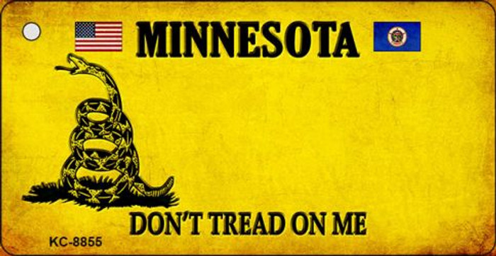 Minnesota Don't Tread On Me Novelty Key Chain