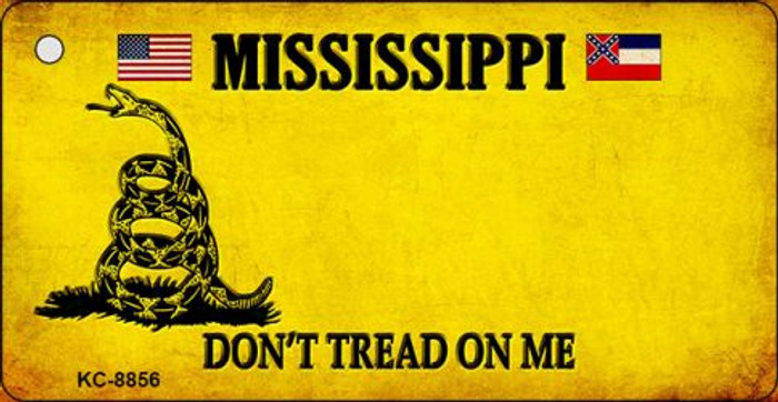 Mississippi Don't Tread On Me Novelty Key Chain
