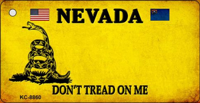 Nevada Don't Tread On Me Novelty Metal Key Chain